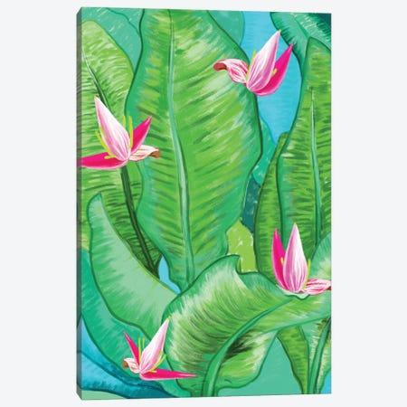 Banana Floral Canvas Print #UMA1420} by 83 Oranges Art Print