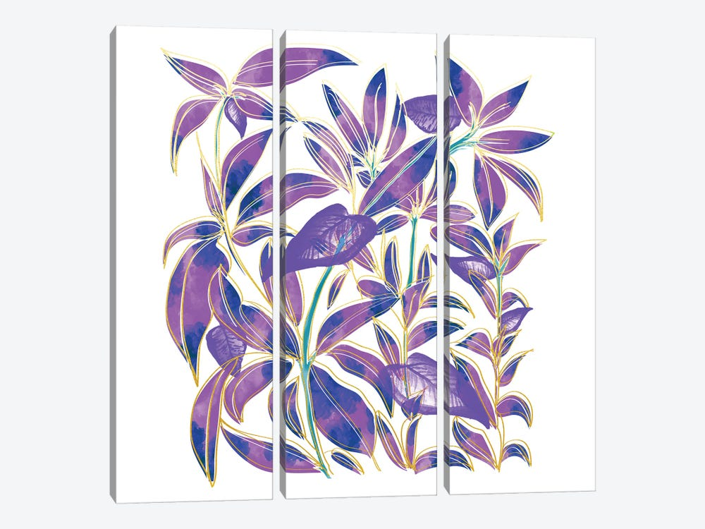 Ultraviolet Nature by 83 Oranges 3-piece Canvas Wall Art