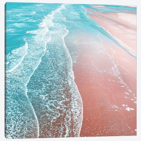 Sea Blue + Rose Gold Canvas Print #UMA1427} by 83 Oranges Canvas Art