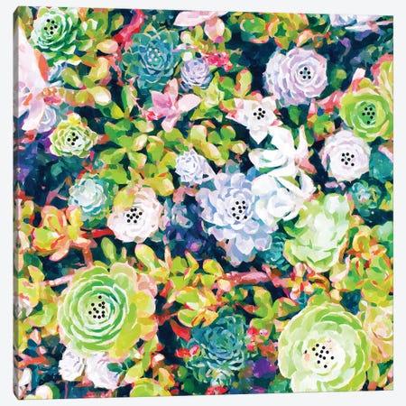 Watercolor Succulents Canvas Print #UMA1431} by 83 Oranges Canvas Artwork