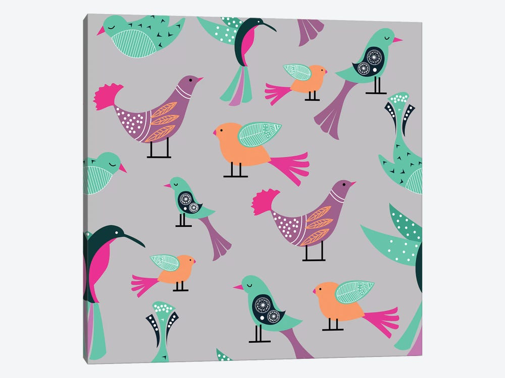 Birds Pattern by 83 Oranges 1-piece Canvas Artwork