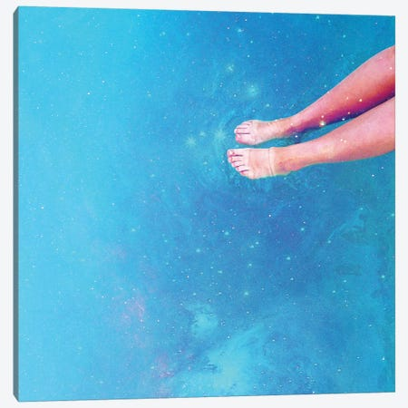 Retro Space Swim Canvas Print #UMA151} by 83 Oranges Canvas Art Print
