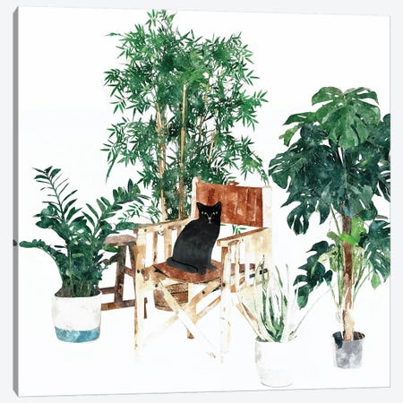 Boho Kitty Canvas Print #UMA160} by 83 Oranges Canvas Wall Art