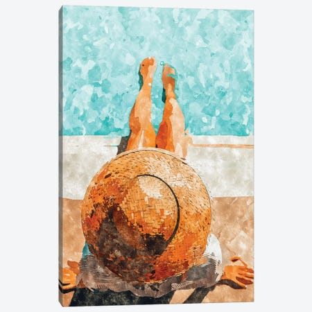 By The Pool All Day Canvas Print #UMA161} by 83 Oranges Canvas Art