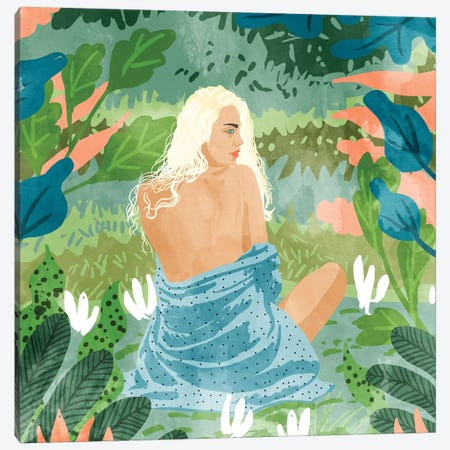 Jungle Vibes Canvas Print #UMA166} by 83 Oranges Canvas Art Print