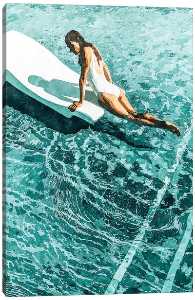 Pool Day Canvas Art Print