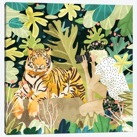 Tiger Sighting Canvas Print #UMA173} by 83 Oranges Art Print