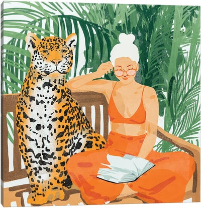 Jungle Vacay II Canvas Art Print