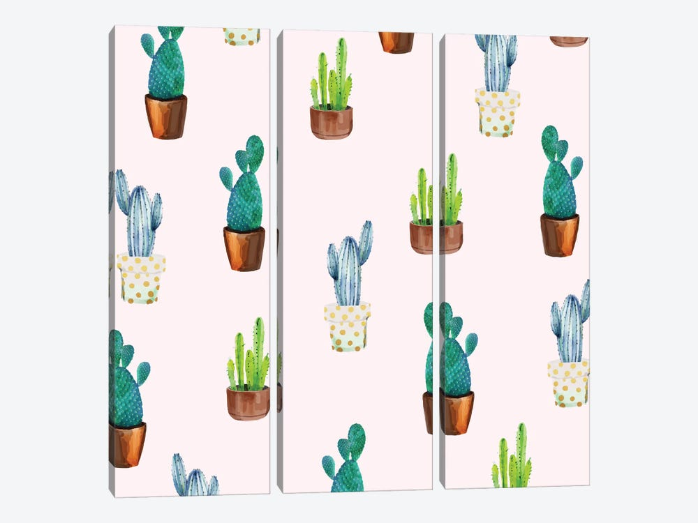 Cactus Formation by 83 Oranges 3-piece Canvas Artwork
