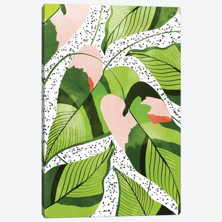 Blushing Leaves Canvas Print #UMA196} by 83 Oranges Canvas Art