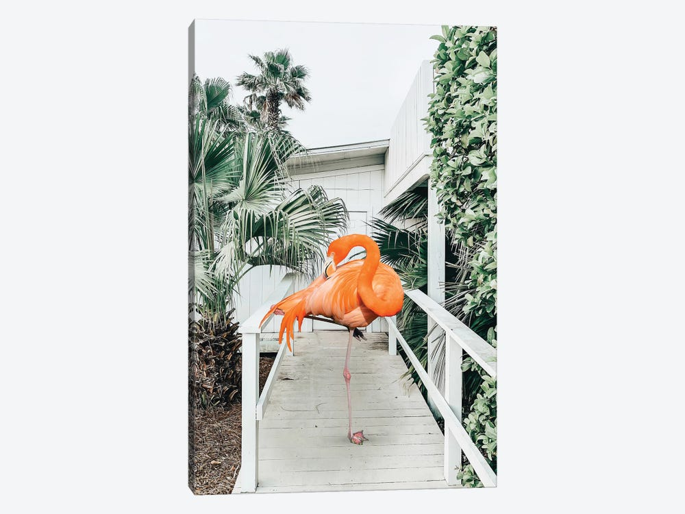 Flamingo Beach House by 83 Oranges 1-piece Art Print