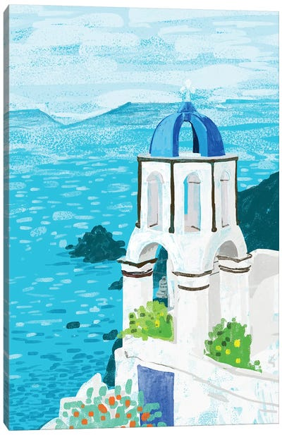 Greek Landscape Canvas Art Print