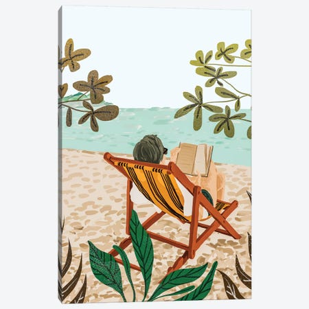 Vacay Book Club Canvas Print #UMA212} by 83 Oranges Canvas Art