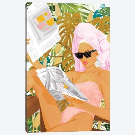 Vacay News Canvas Print #UMA213} by 83 Oranges Canvas Wall Art