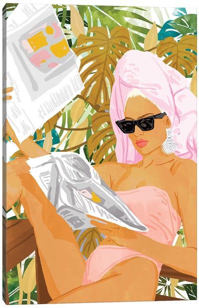 Vacay News Canvas Art Print