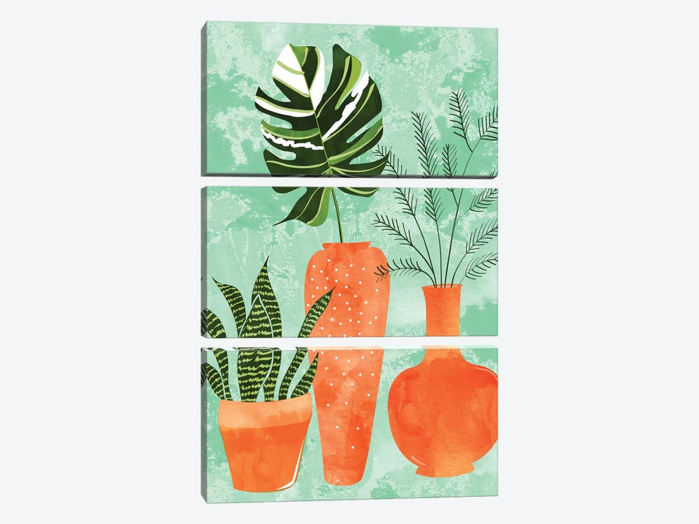 Water My Plants by 83 Oranges 3-piece Canvas Art Print