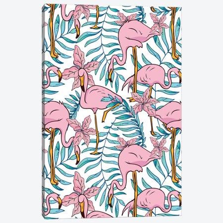 Boho Flamingo Canvas Print #UMA222} by 83 Oranges Canvas Print