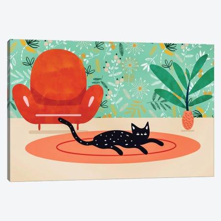 Boho Cat Canvas Print #UMA226} by 83 Oranges Canvas Artwork