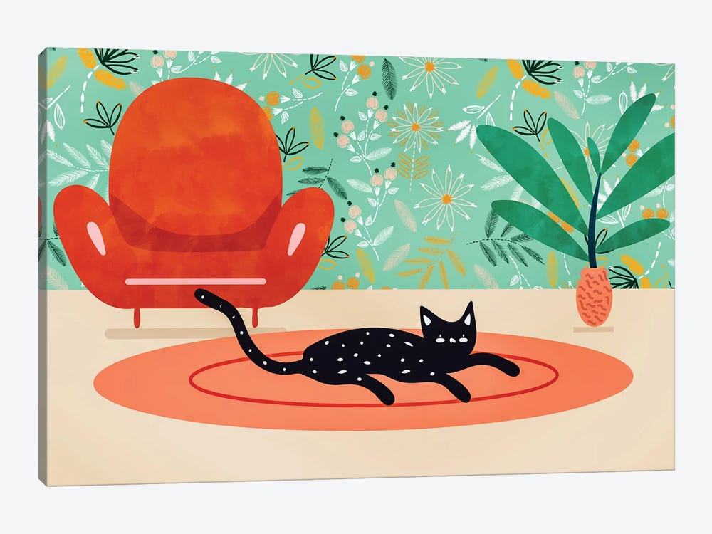 Boho Cat by 83 Oranges 1-piece Art Print