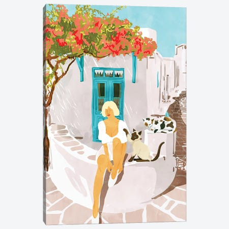 Greek Vacay Canvas Print #UMA233} by 83 Oranges Canvas Art