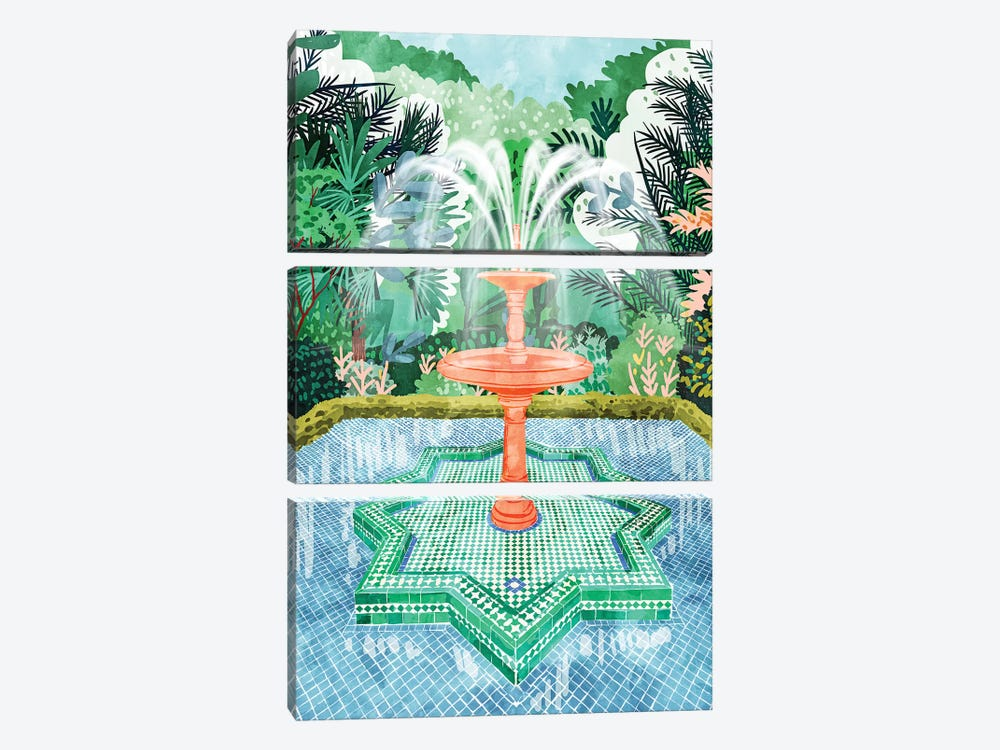 The Fountain Of Life by 83 Oranges 3-piece Canvas Print