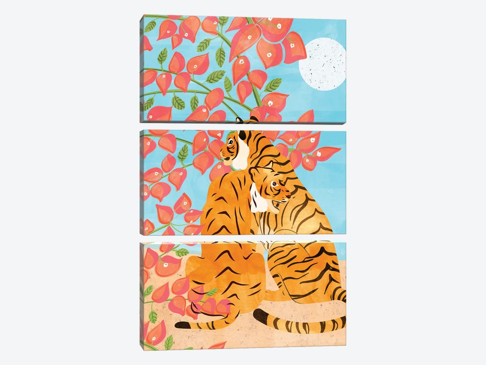 Tiger Honeymoon by 83 Oranges 3-piece Canvas Wall Art