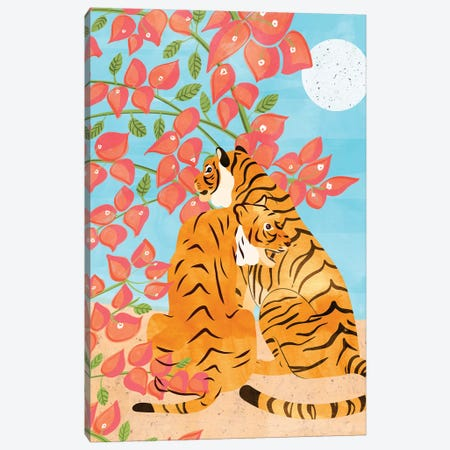 Tiger Honeymoon Canvas Print #UMA247} by 83 Oranges Canvas Wall Art