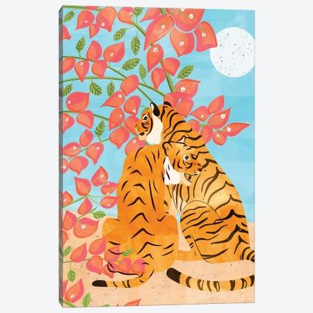 Tiger Honeymoon Canvas Print #UMA247} by 83 Oranges Canvas Wall Art