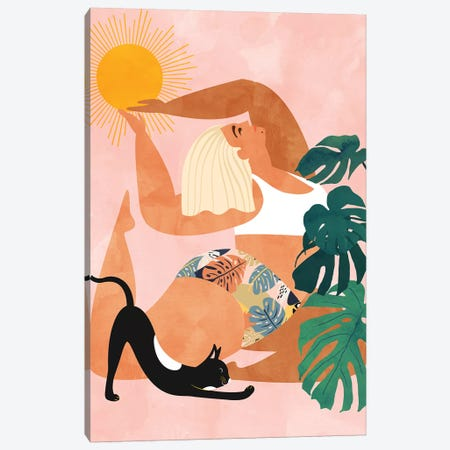 Tropical Yoga Canvas Print #UMA249} by 83 Oranges Canvas Art Print