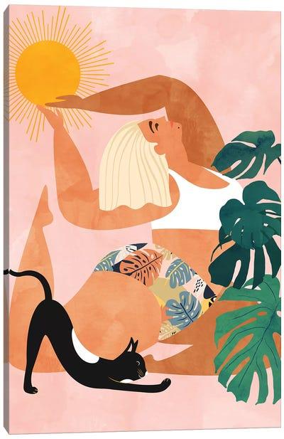 Tropical Yoga Canvas Art Print