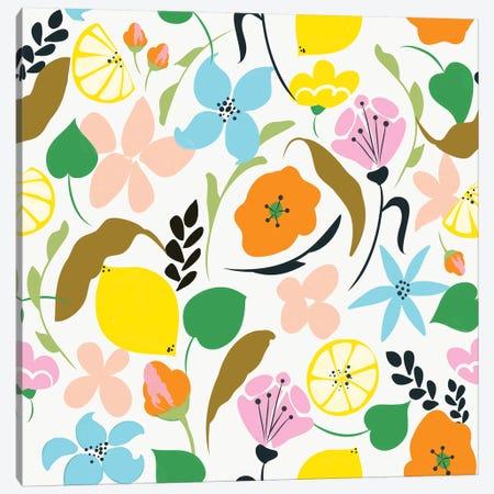 Lemon Botanicals Canvas Print #UMA253} by 83 Oranges Canvas Wall Art