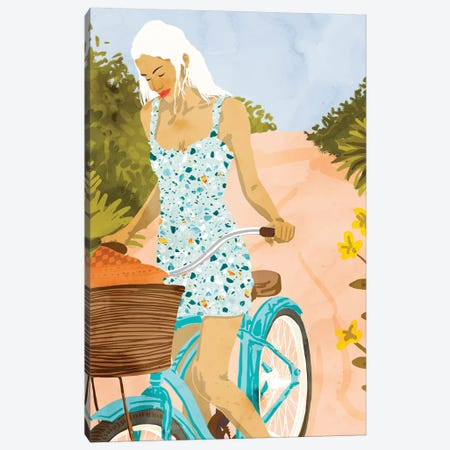 Biking In The Woods Canvas Print #UMA268} by 83 Oranges Canvas Art Print