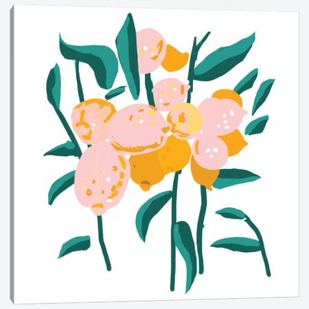 Lemon Love Canvas Print #UMA269} by 83 Oranges Canvas Art Print