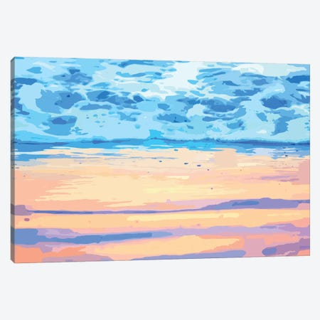 Sunset On The Shore Canvas Print #UMA271} by 83 Oranges Canvas Wall Art