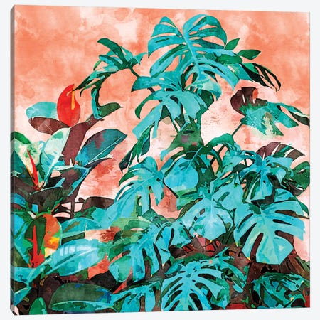 Monstera In My Backyard Canvas Print #UMA274} by 83 Oranges Art Print