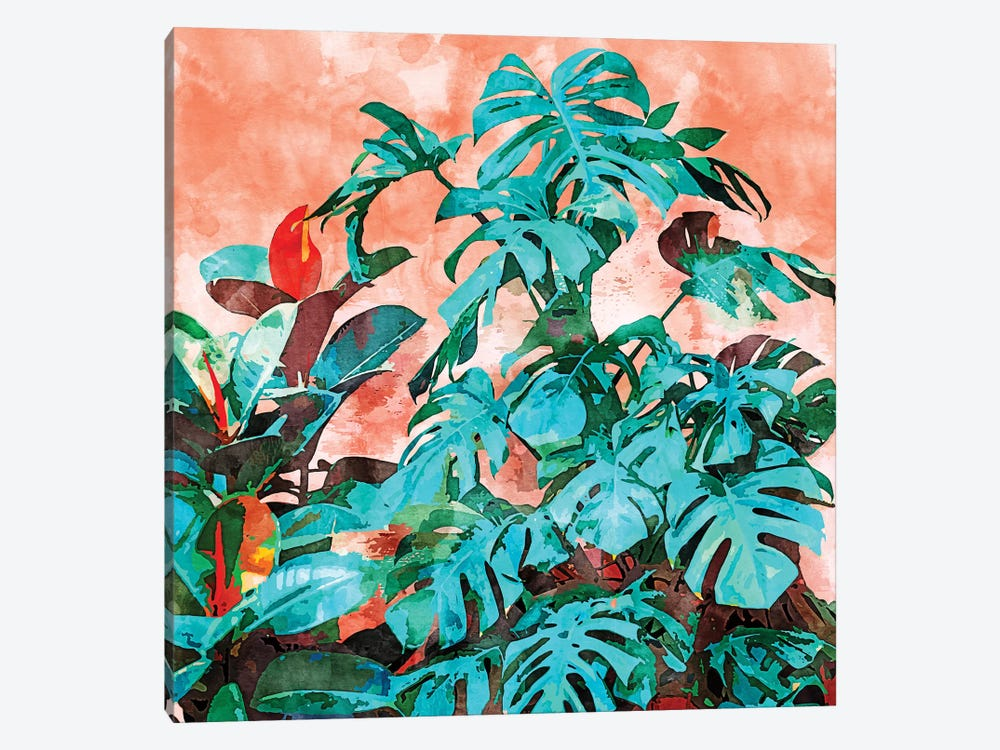 Monstera In My Backyard by 83 Oranges 1-piece Canvas Wall Art