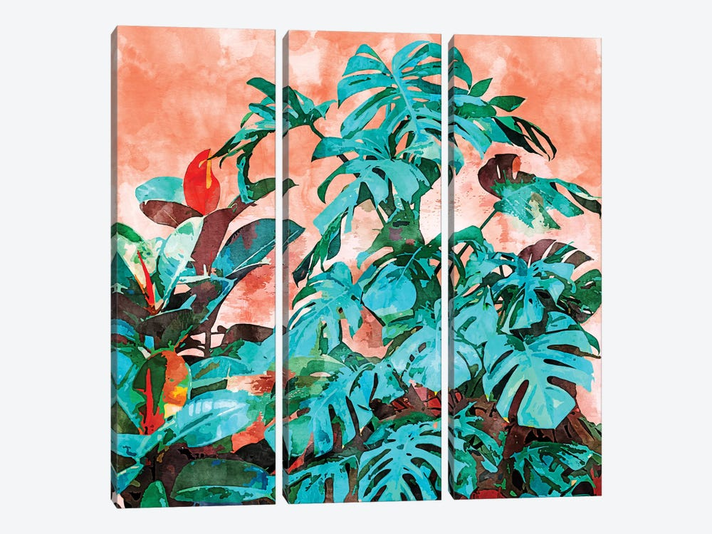 Monstera In My Backyard by 83 Oranges 3-piece Canvas Art