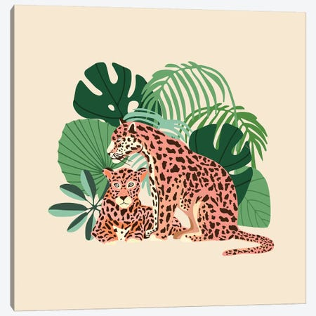 Blush Jaguars Canvas Print #UMA276} by 83 Oranges Canvas Print