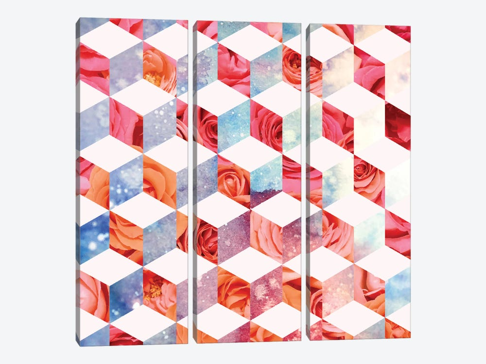 Eve's Sweet Garden Of Roses by 83 Oranges 3-piece Canvas Artwork