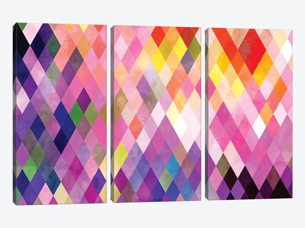Geometry Of Life by 83 Oranges 3-piece Canvas Print