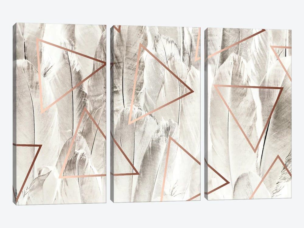 Copper Feathers by 83 Oranges 3-piece Canvas Art Print