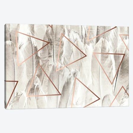 Copper Feathers Canvas Print #UMA28} by 83 Oranges Canvas Print