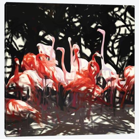 Flamingoes Under The Banyan Tree Canvas Print #UMA292} by 83 Oranges Canvas Art