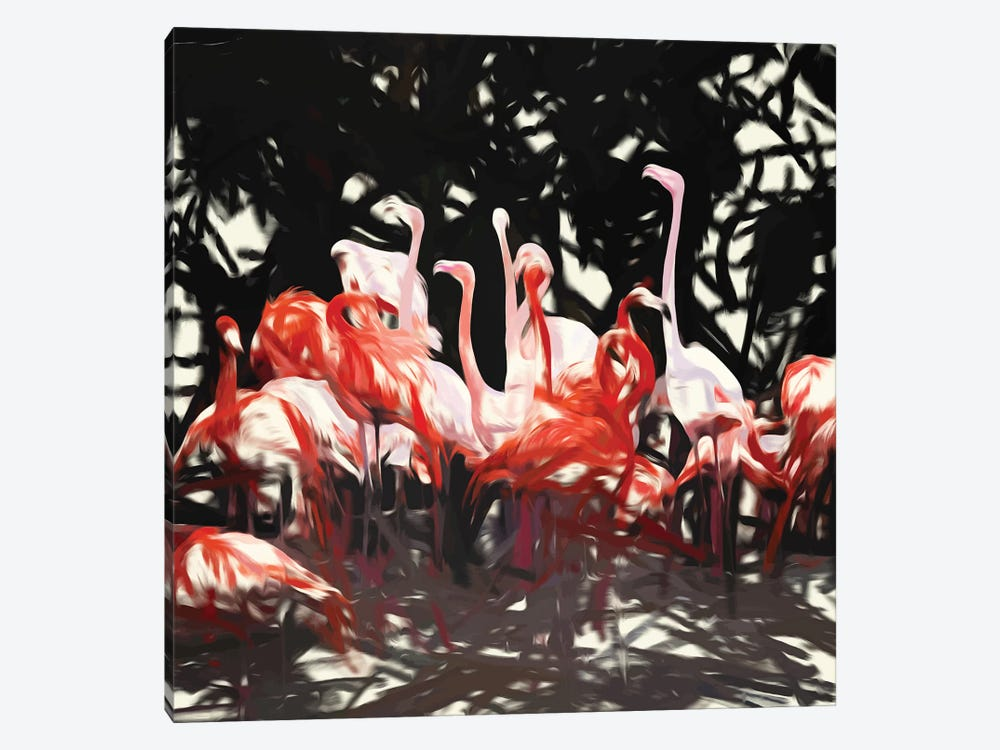 Flamingoes Under The Banyan Tree by 83 Oranges 1-piece Canvas Art