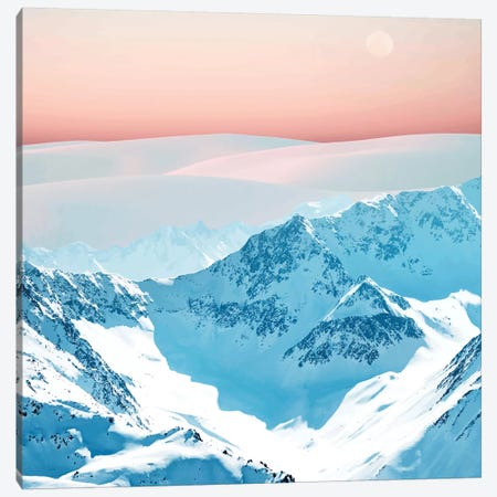 Snow & Blush Horizon Canvas Print #UMA298} by 83 Oranges Canvas Wall Art