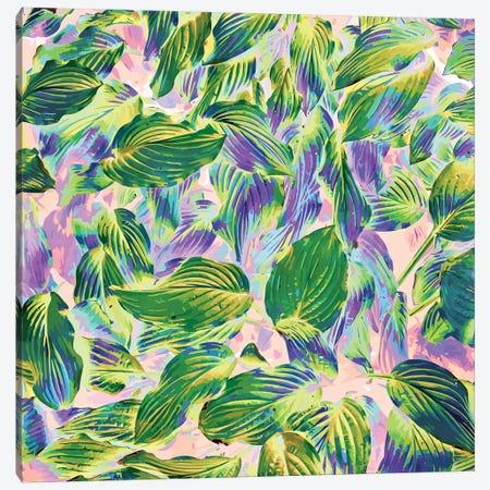 Happy Leaves Canvas Print #UMA307} by 83 Oranges Art Print