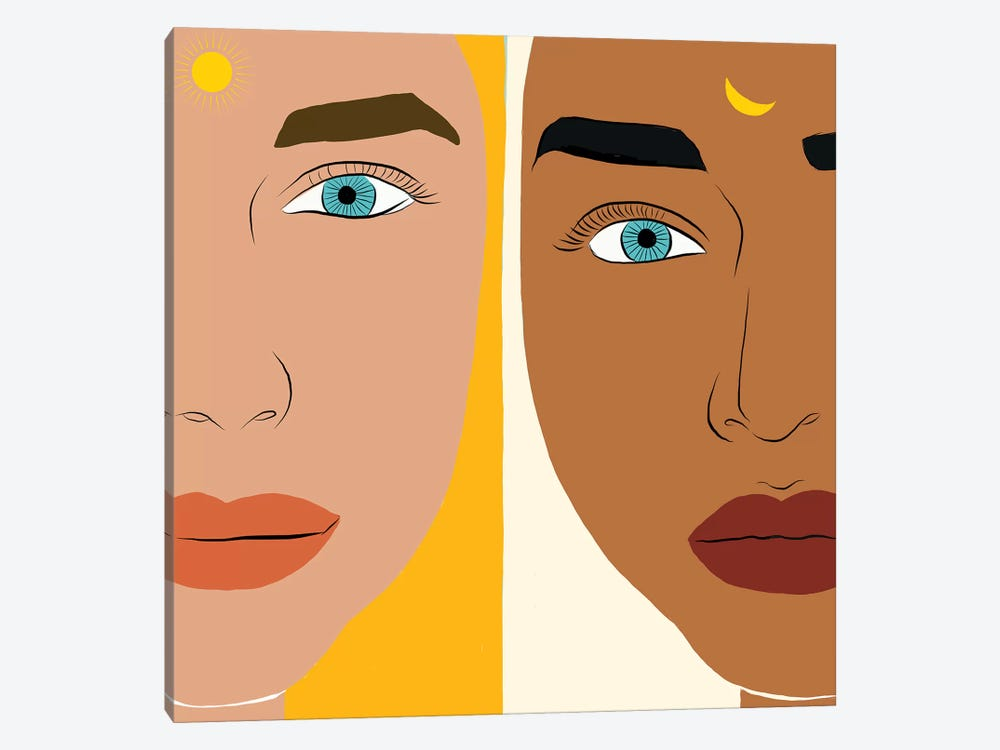 Day & Night by 83 Oranges 1-piece Canvas Print