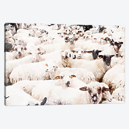 The Herd Canvas Print #UMA314} by 83 Oranges Canvas Artwork