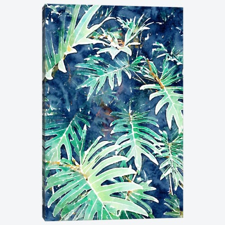 Rain + Leaves Canvas Print #UMA315} by 83 Oranges Canvas Wall Art