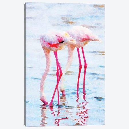 Flamingo Pink Canvas Print #UMA316} by 83 Oranges Canvas Art